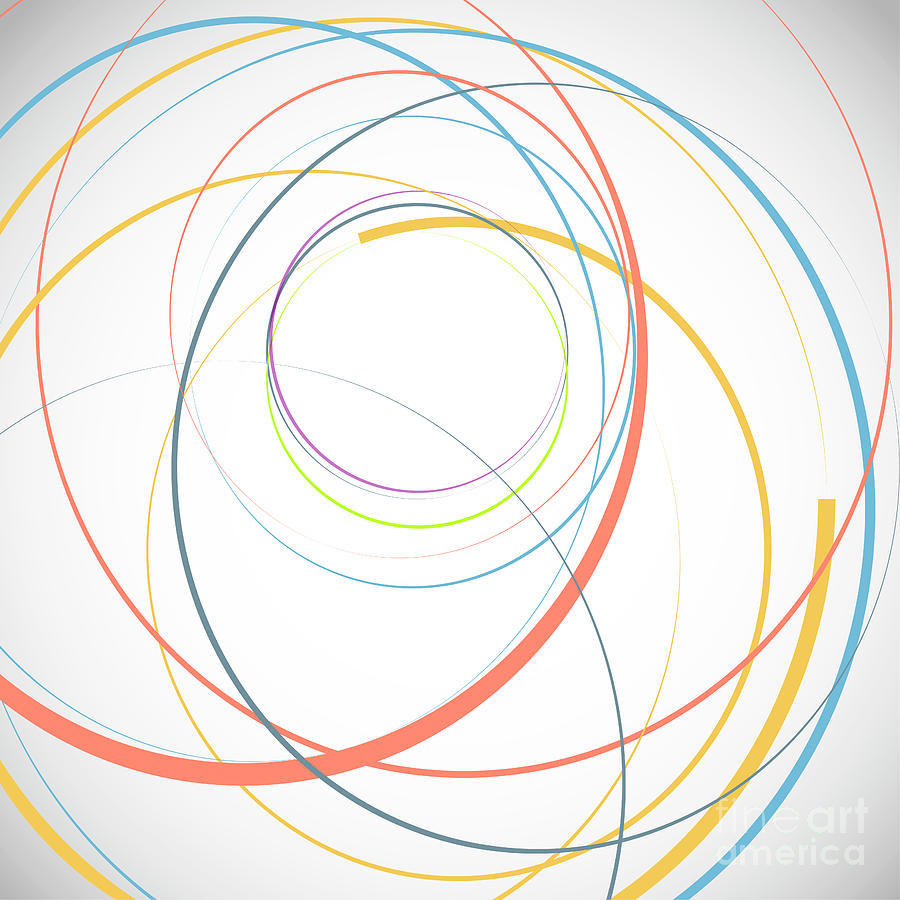 Abstract Background With Circles Digital Art by Tonivaver