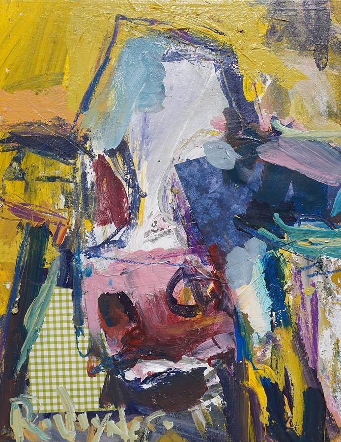 Cow Painting - Abstract Cow Painting by Robert Joyner