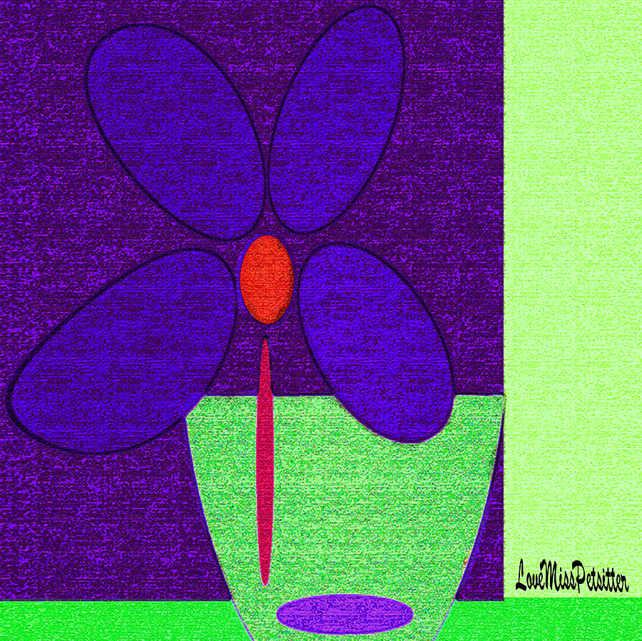 Abstract Floral Art 385 by Miss Pet Sitter