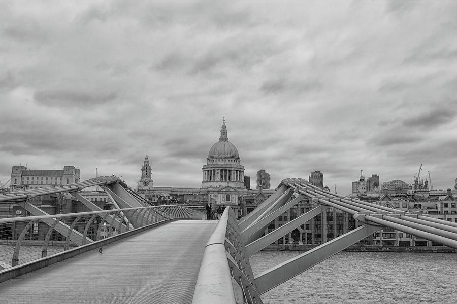 Landmark Photograph - Across The Bridge by Martin Newman