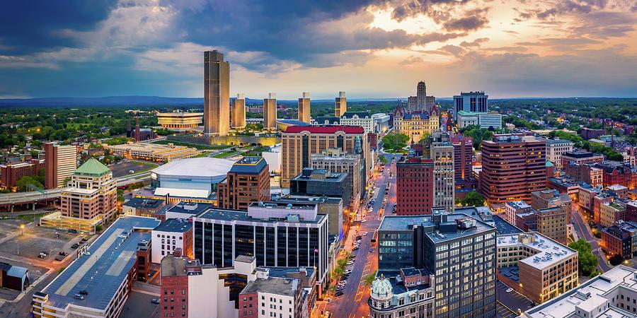 Aerial panorama of Albany, New York by Mihai Andritoiu