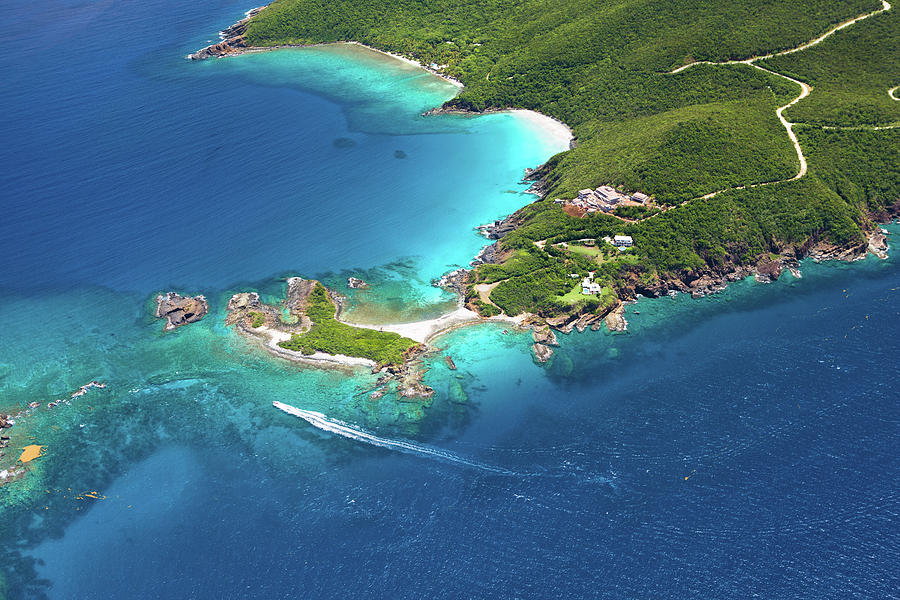 Aerial Shot Of West End, St. Thomas, Us Photograph by Cdwheatley