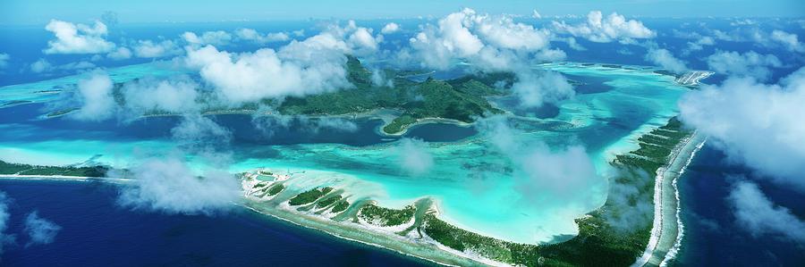 Aerial View Of An Island Bora Bora