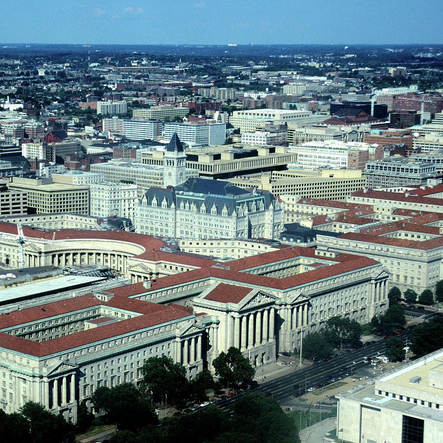 Aerial View Of Constitution Avenue Photograph by Hisham Ibrahim