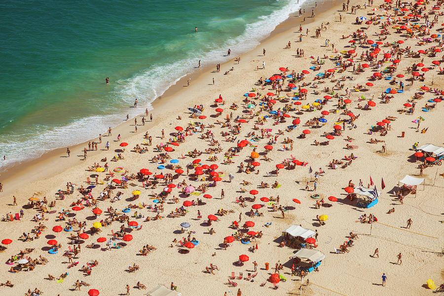 Aerial View Of Leblon Beach In Rio De Photograph by Gonzalo Azumendi