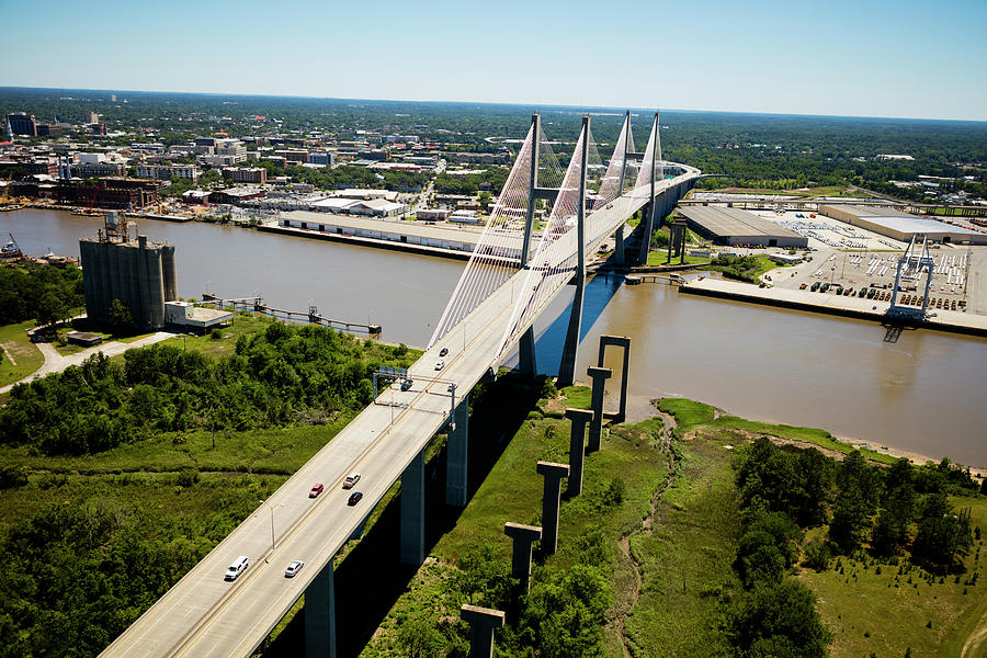 Aerial View Of Talmadge Bridge by Panoramic Images