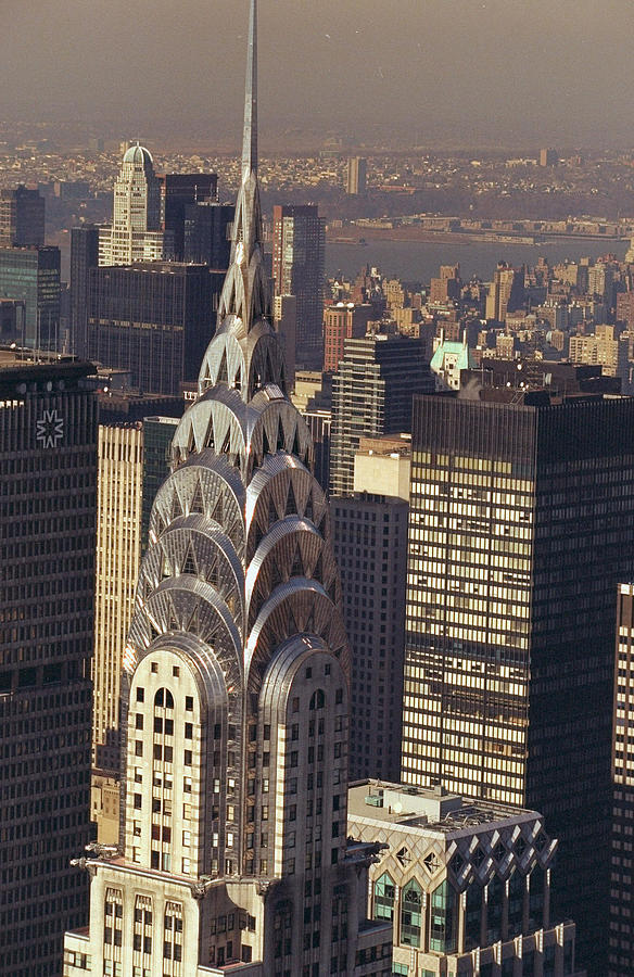Aerial View Of The Chrysler Building 1 Photograph by New York Daily News Archive
