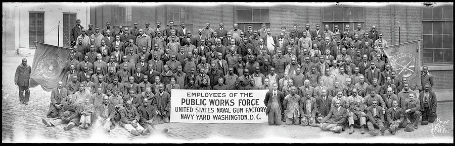 Panoramic Photograph - African American Employees In Photo by Fred Schutz Collection