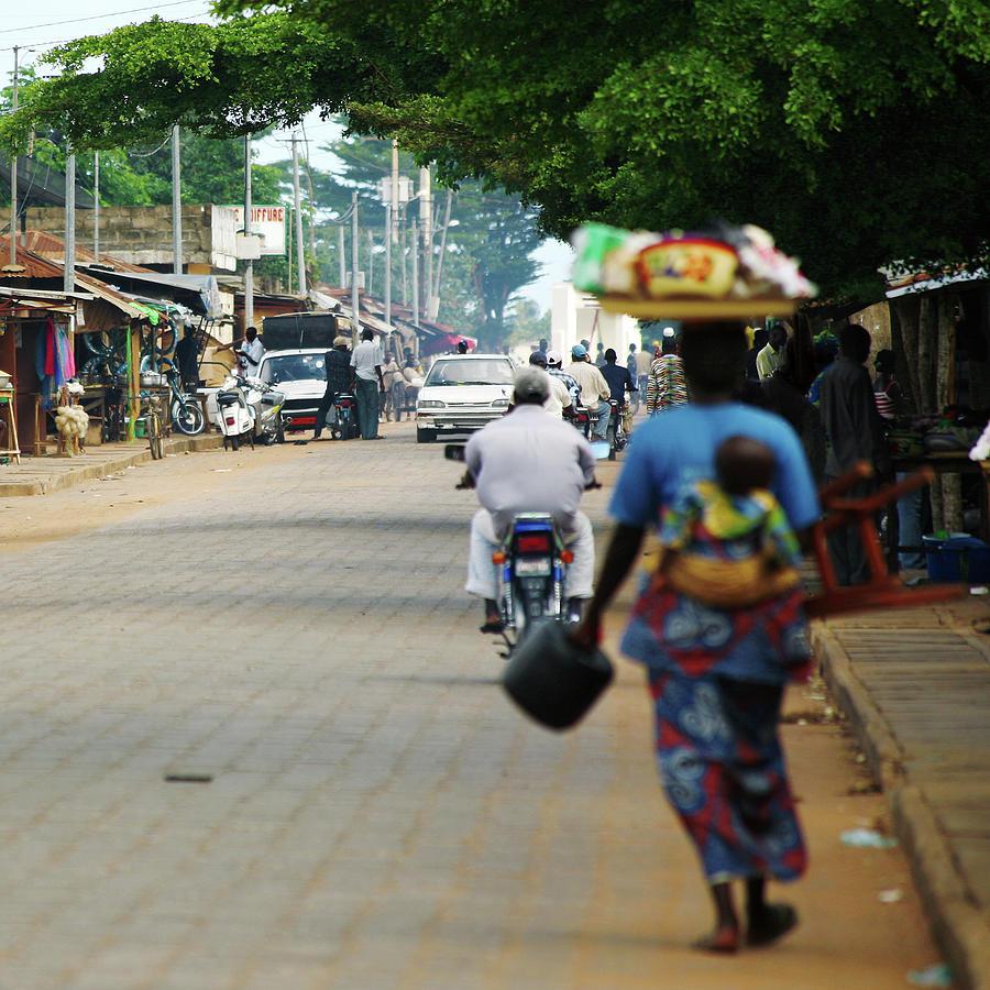 African Street Scene Photograph by Peeterv
