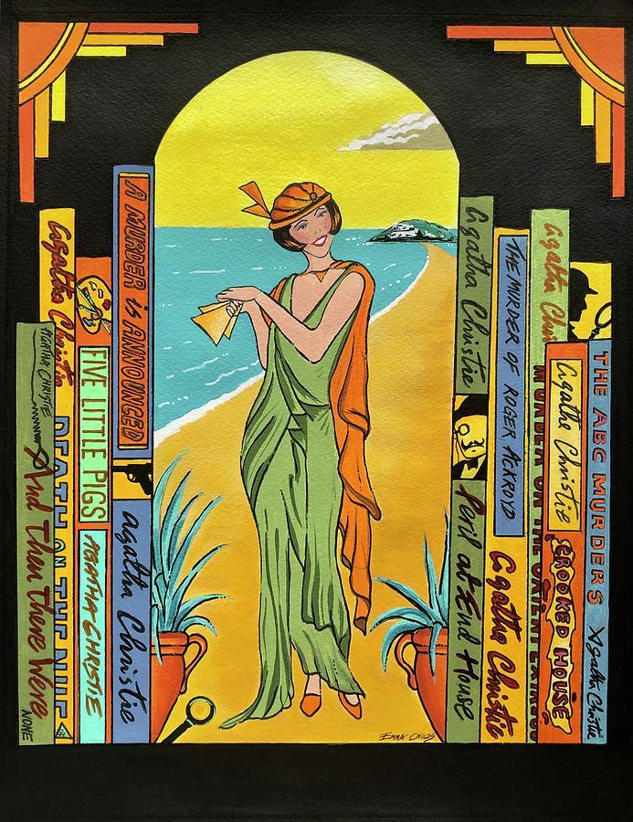 Agatha Christie Life Painting