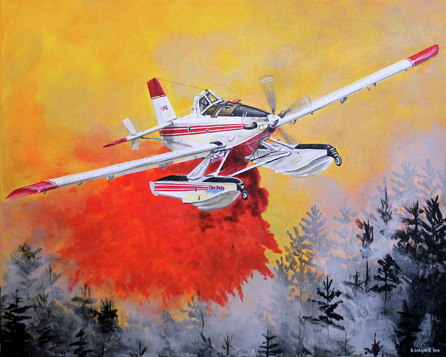 Air Tractor 802 Fire Boss by Karl Wagner
