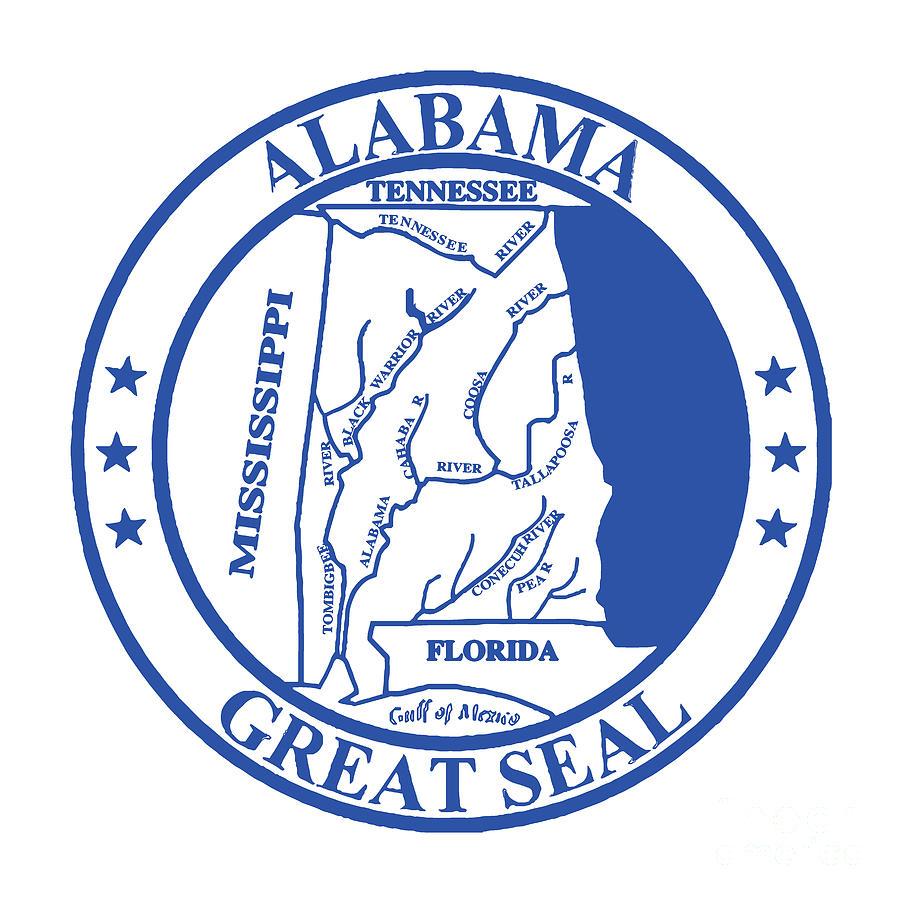 Alabama State Seal Digital Art By Bigalbaloo Stock