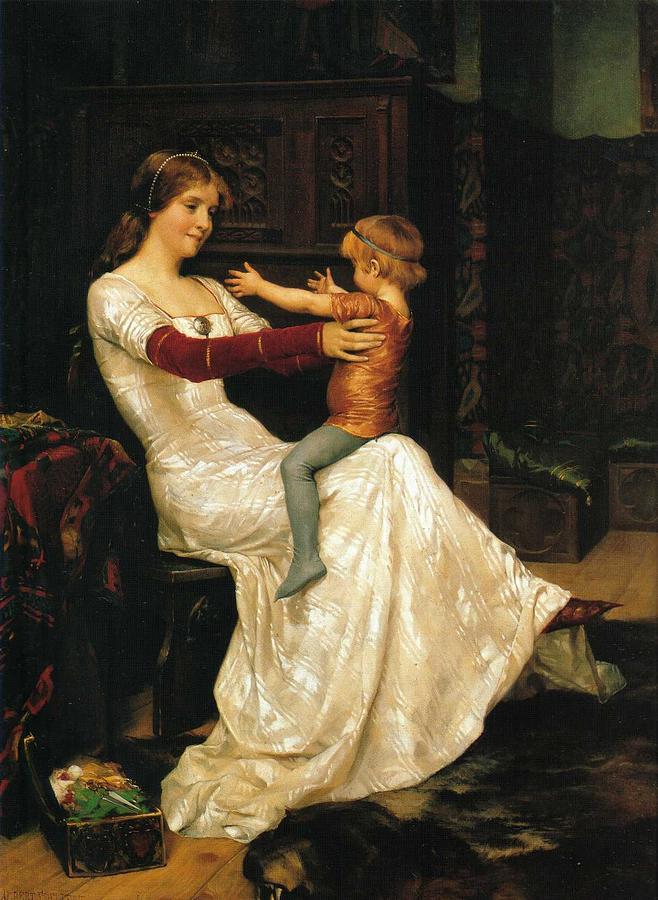 Albert EDELFELT, Queen Blanka by Albert EDELFELT