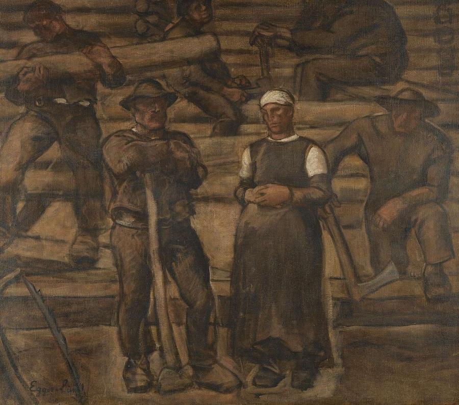 Nature Painting - Albin Egger-lienz 1868 - 1926 The Ages Of Life by Albin Egger-Lienz