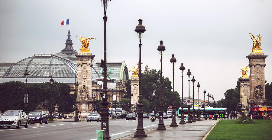 Alexandre III Bridge and Grand Palais. Paris, France by Eduardo Huelin