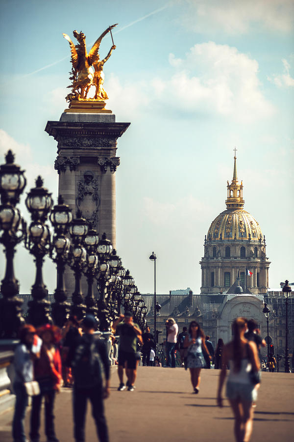 Alexandre III Bridge and the National Palace of the Invalides. Paris, France by Eduardo Huelin