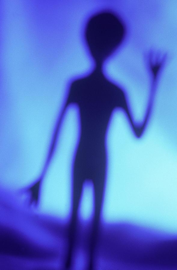 Alien Waving Photograph by Steven Puetzer