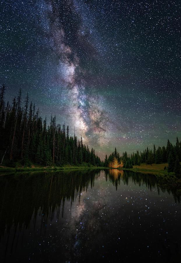 Alpine Lake Under the Stars by David Soldano