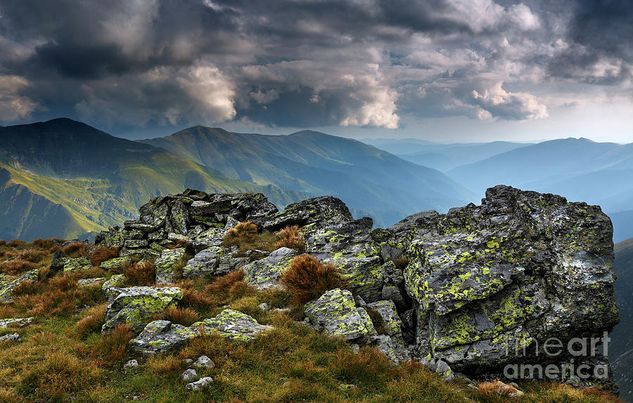 Alpine landscape in a cloudy day by Catalin Petolea