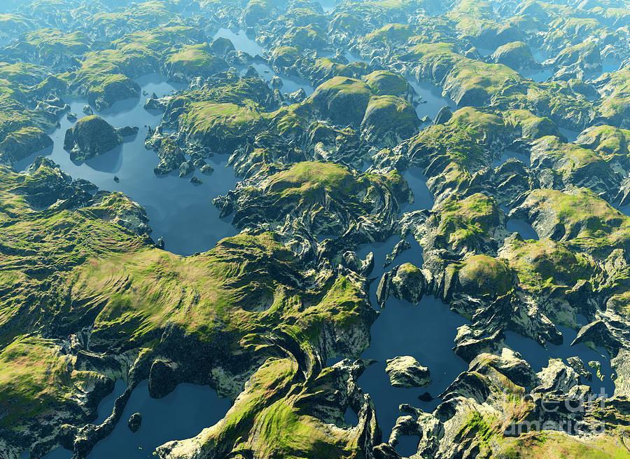 Brazil Photograph - Amazon River Birds Eye View by Dariush M
