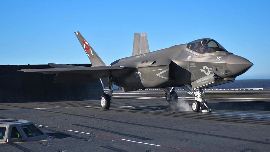 An F-35c Lightning II Joint Strike Photograph by Stocktrek Images