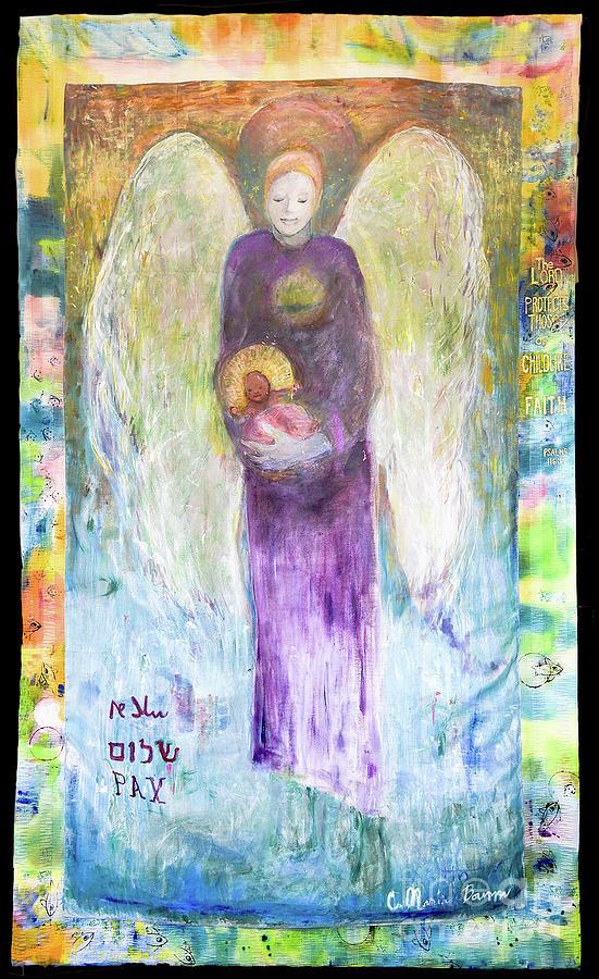 Angel Gabriel Brings Child Spirit by Claremaria Vrindaji Bowman
