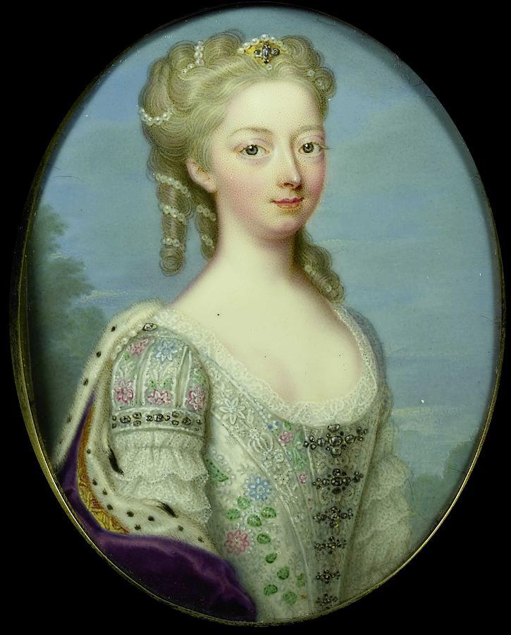 Girl Painting - Anna, Princess Of Hanover 1709-59, Wife Of William Iv, Prince Of Orange-nassau, Christian Friedrich  by Friedrich Zincke