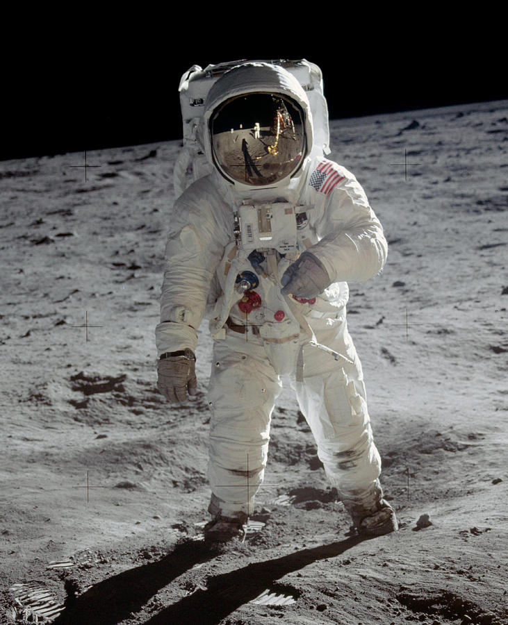 1969 Photograph - Apollo 11, Astronaut Buzz Aldrin 1 by Science Source