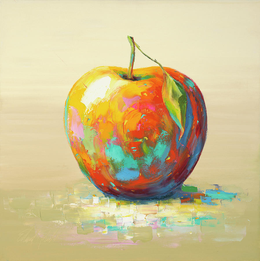 1 Apple Painting by Edward Park