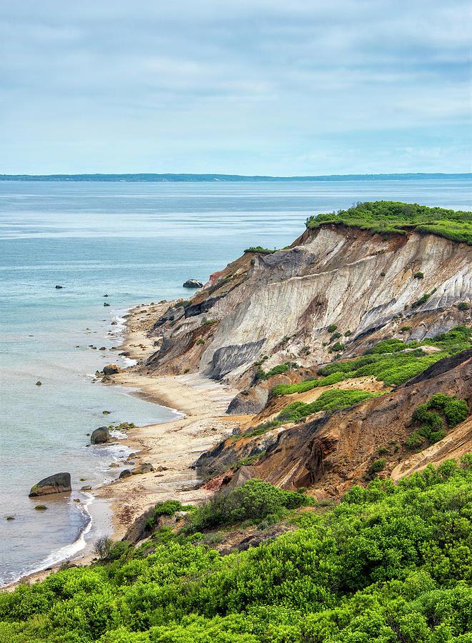Aquinnah Cliffs Photograph - Aquinnah Cliffs And Beach - Marthas Vineyard 1 by Brendan Reals