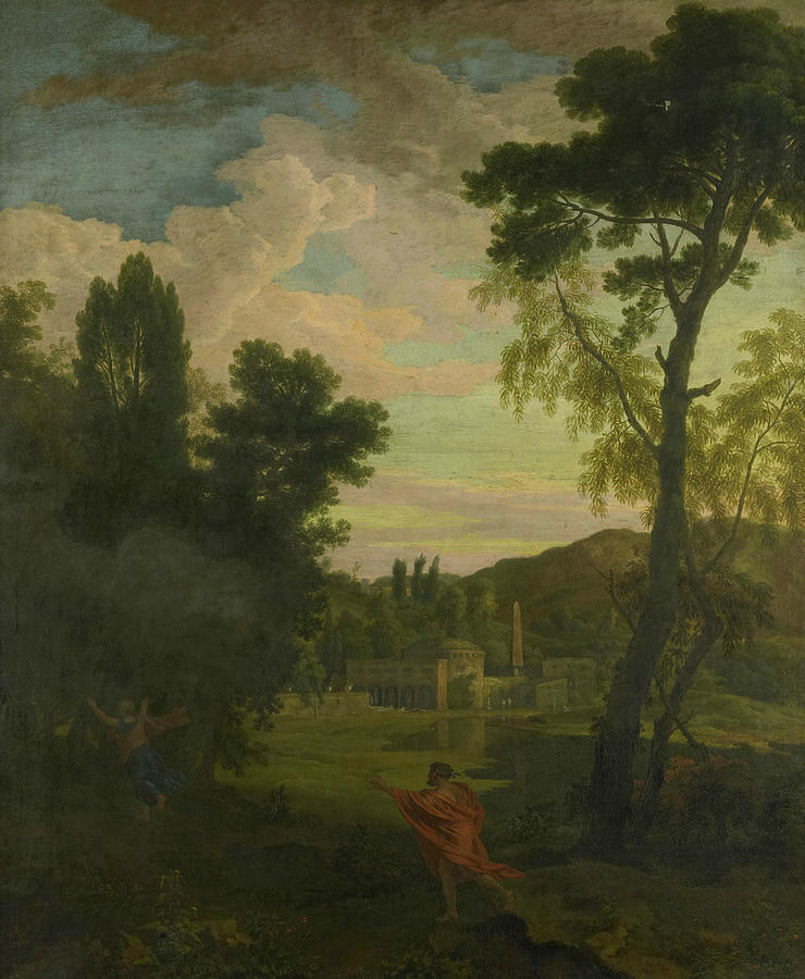 Arcadian Landscape with Jupiter and Io by Johannes Glauber
