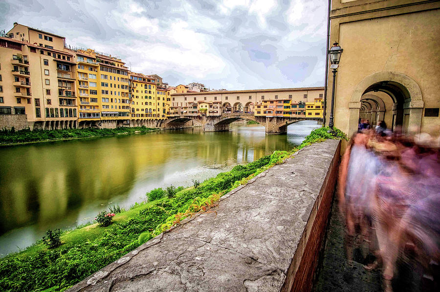 Arches along the Arno River by Matthew Pace