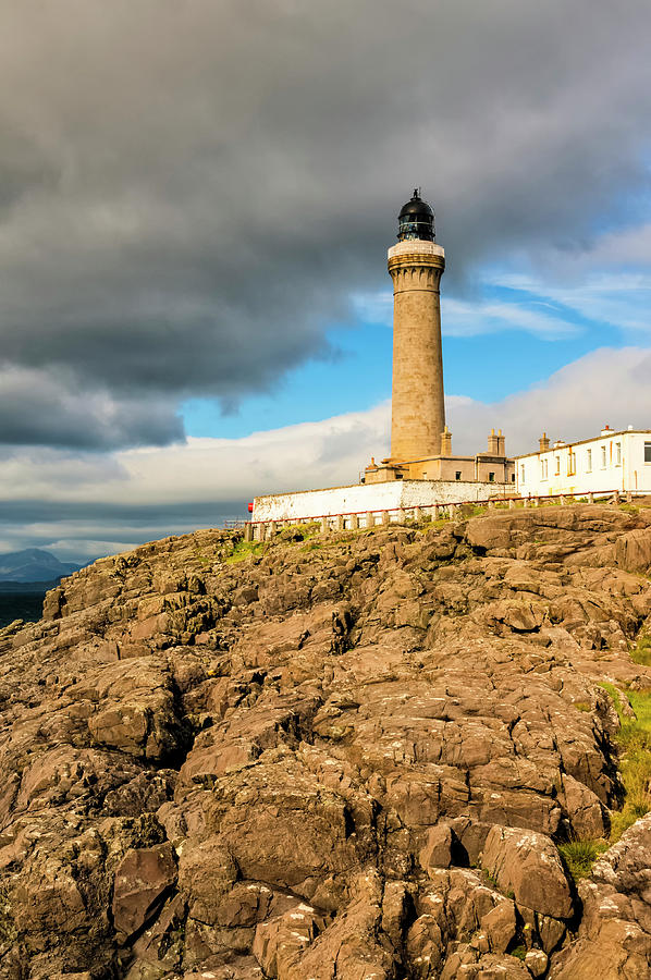 Ardnamurchan Point Lighthouse in Portrait Format. by Paul Cullen