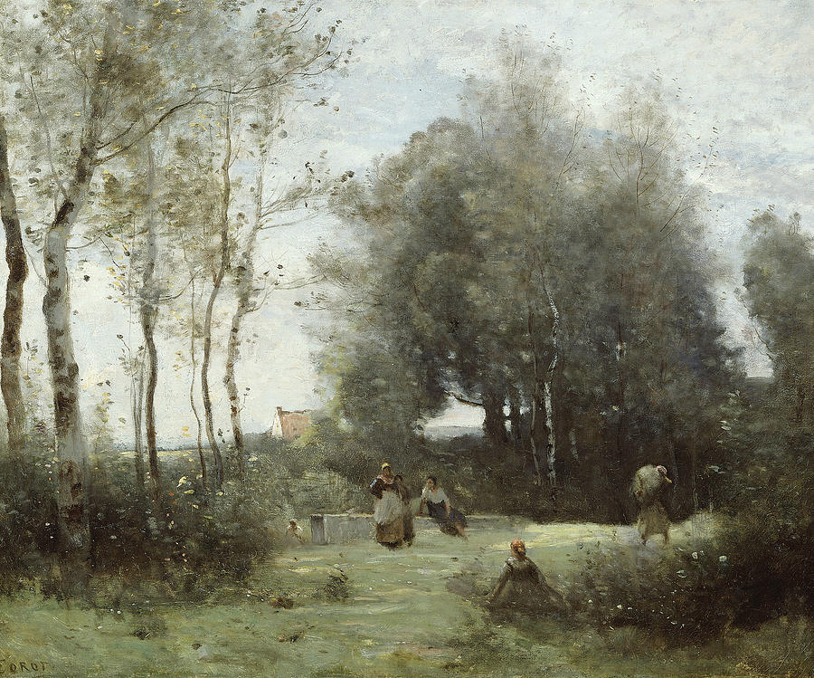 Arleux-Palluel, The Bridge of Trysts by Jean-Baptiste-Camille Corot
