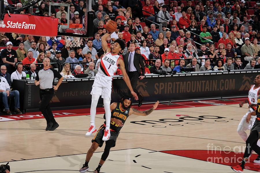 Atlanta Hawks V Portland Trail Blazers Photograph by Cameron Browne