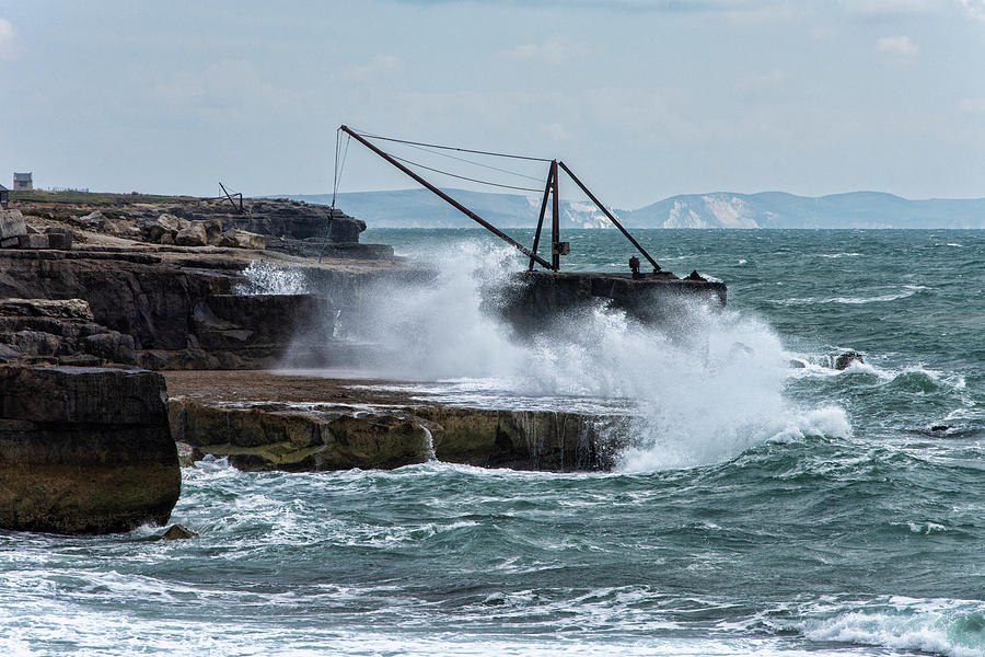 Purbeck Photograph - Atlantic Splash by Steev Stamford