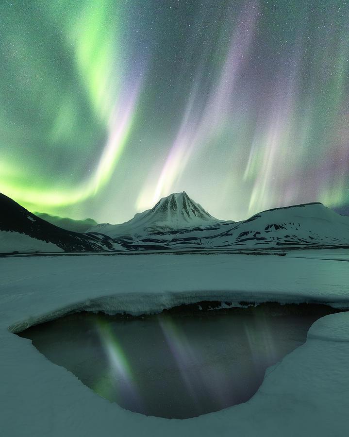 Mountain Photograph - Aurora Borealis by Photography by KO