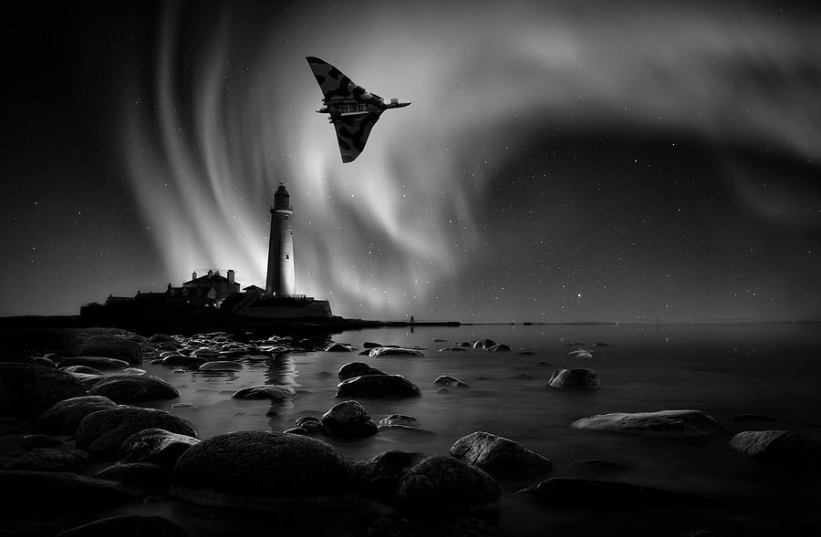 Vulcan Mixed Media - Auroral Splendour For The Vulcan by Smart Aviation