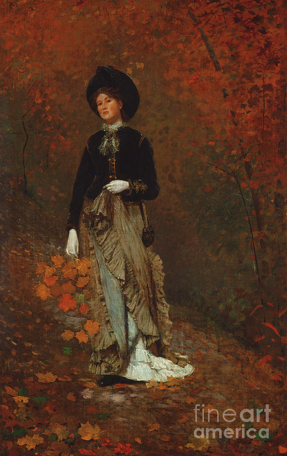 Winslow Homer Painting - Autumn, 1877  1 by Winslow Homer