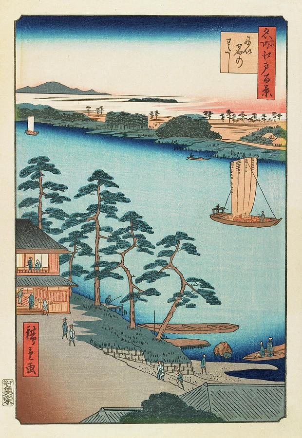 Utagawa Hiroshige Painting - Autumn Niijuku Ferry, 19th century by Utagawa Hiroshige