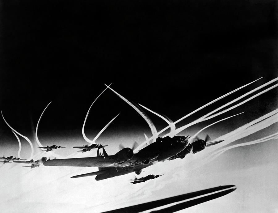 B-17 Flying Fortresses by Underwood Archives