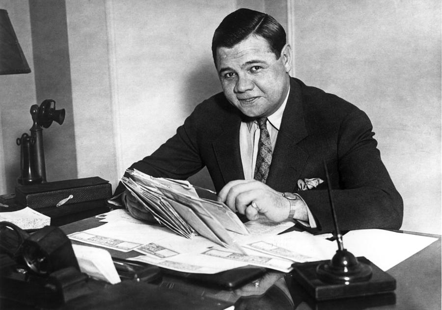 Babe Ruth Photograph by Hulton Archive