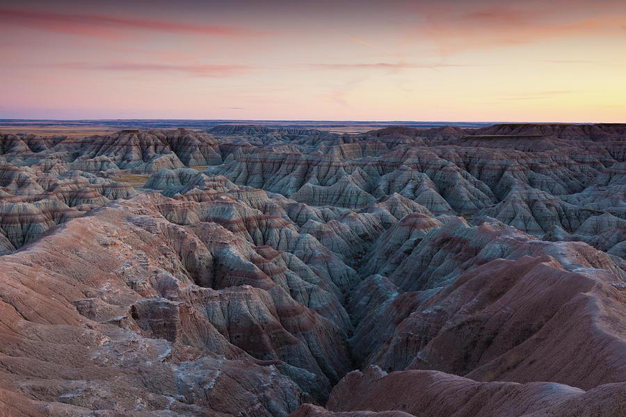 Badlands National Park, South Dakota Photograph by Walter Bibikow