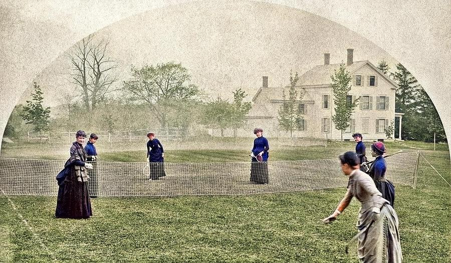 Badminton, May 15, 1886 By Abbot Academy Colorized By Ahmet Asar Colorized By Ahmet Asar Painting