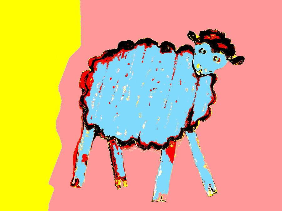 Bah Bah Aussie Sheep - Blue by Lexa Harpell