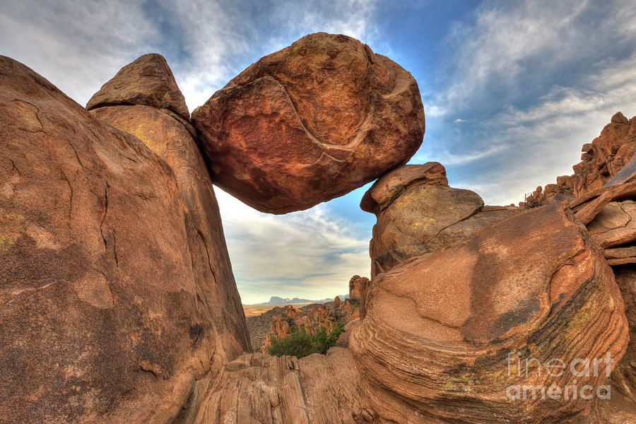 Rock Photograph - Balanced Rock by Joe Sparks