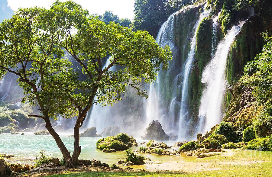 Steep Photograph - Ban Gioc - Detian Waterfall In  Vietnam by Galyna Andrushko