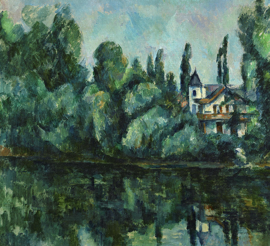 Cezanne Painting - Banks Of The Marne, 1888 by Paul Cezanne