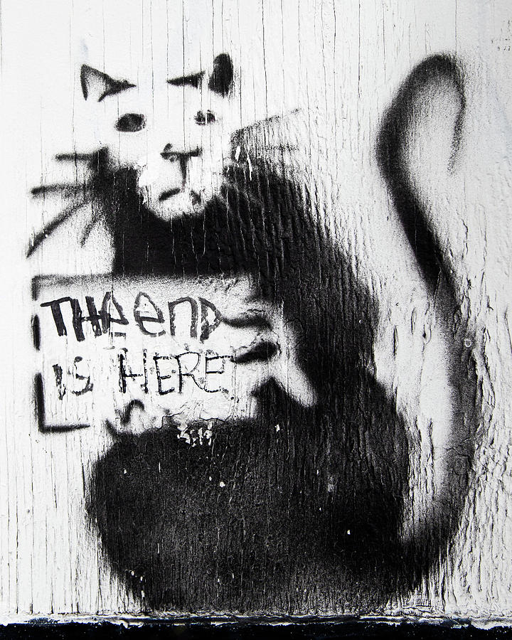Banksy Rat The End Is Here by Gigi Ebert