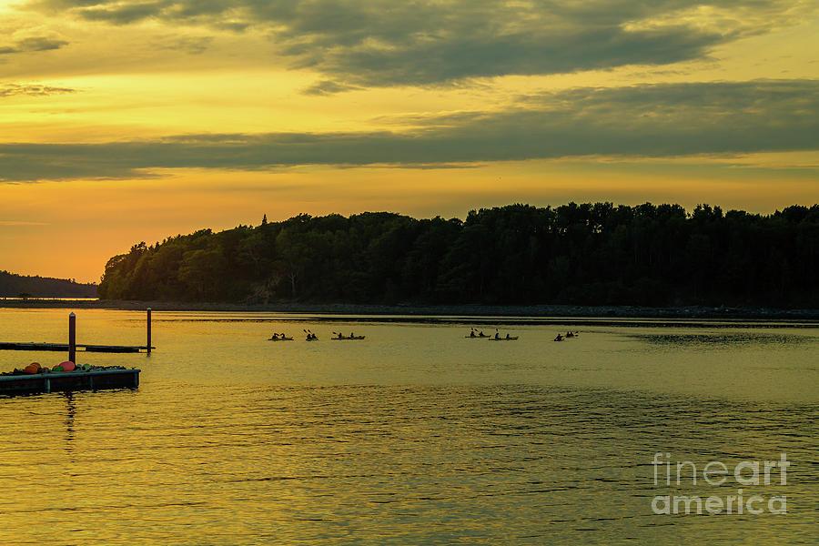 Acadia Photograph - Bar Harbor Sunset  by Claudia M Photography